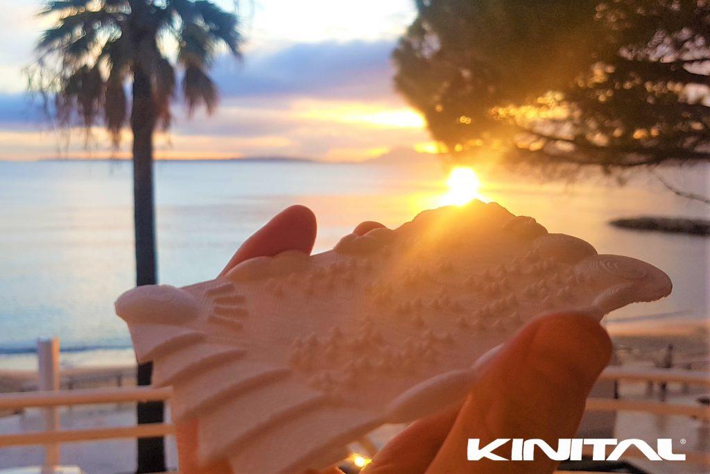 Carte de voeux en braille imprimée en 3D société KINITAL® Kinital.com